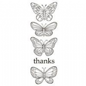 Woodware - Butterflies - Clear Magic Stamp Set - JGS483